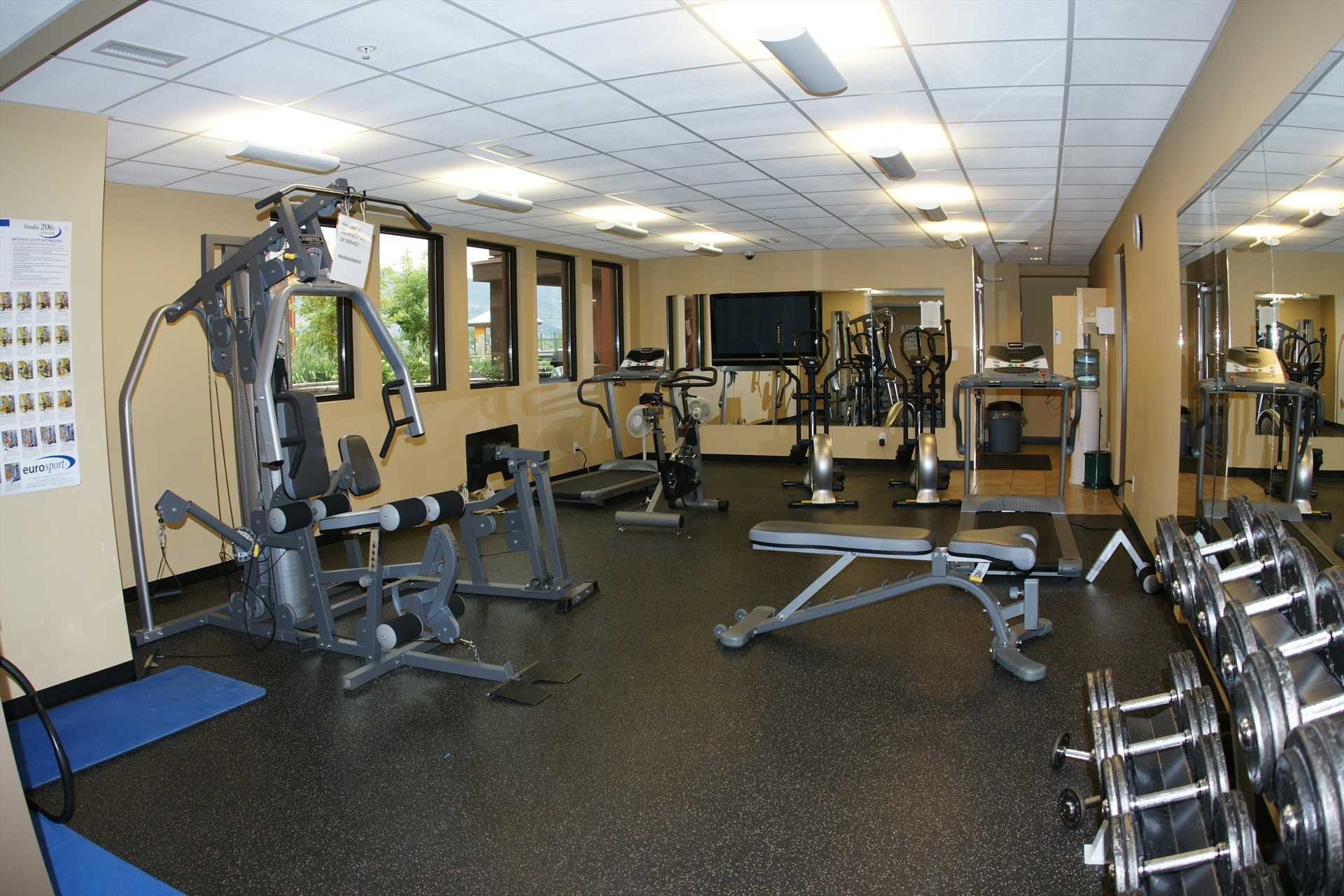 Exercise Gym and Steam Room